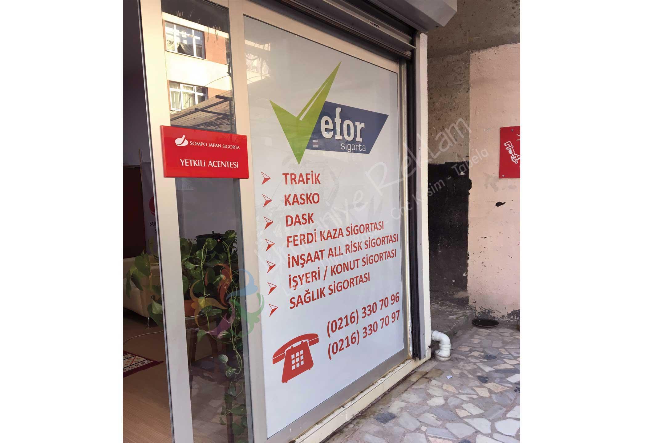 Cam Reklam Uygulama Ataşehir